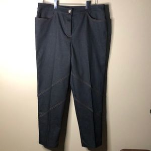 St. John high rise ankle pants with satin pockets